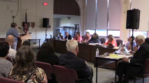 The monthly meeting of the Muncie Community School Board, which was livestreamed on Aug. 8 at the Muncie Area Career Center.
