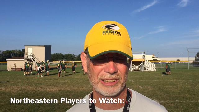 Northeastern High School football coach Mike Roeder discusses the Knights' upcoming 2017 season