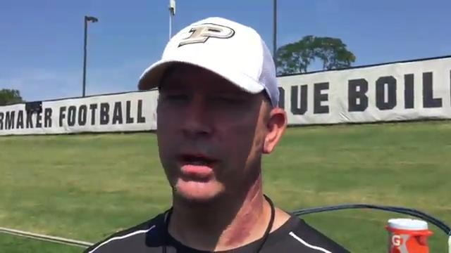 Purdue's Jeff Brohm: Monday's practice