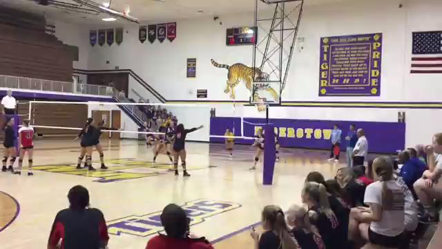 Hagerstown's volleyball team was hungry to get revenge against only team to beat them in 2016 regular season. Despite losing, they gained state champ Wapahani's respect.