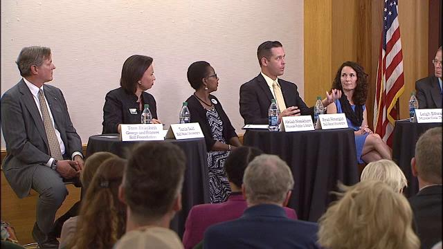 The second Better Together Public Forum with the Muncie community discussed arts and culture at Minnetrista.