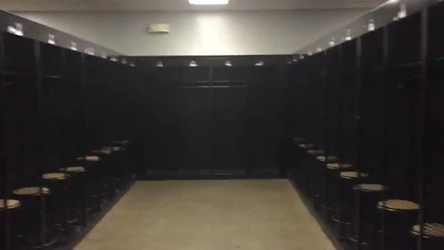 Inside Purdue's visiting team locker room
