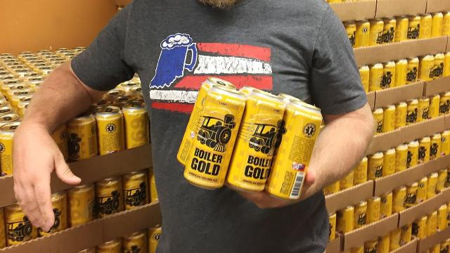 Purdue's first beer is hitting shelves across Tippecanoe County.