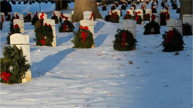 For every two-wreaths sponsored, three wreaths will be provided to Indiana Veterans Home Cemetery.