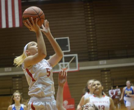 Richmond's girls basketball team defeated Union 72-7 in Tuesday's season opener, but the Red Devils quickly shift their focus to the NCC opener Friday against Anderson.