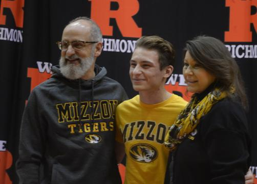Richmond High School senior Ike Khamis won the state title in diving as a junior. He crossed another goal off his list by signing to dive for the University of Missouri.