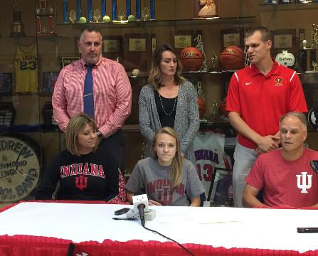 Jenna Barker, a 5-time state qualifier in track and field and cross country, signed her Letter of Intent to run for Indiana University.
