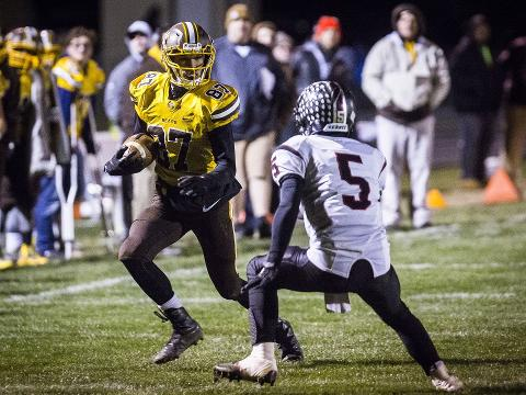 Nick Mitchell discusses the fourth-down score that put gave Monroe Central a regional title.