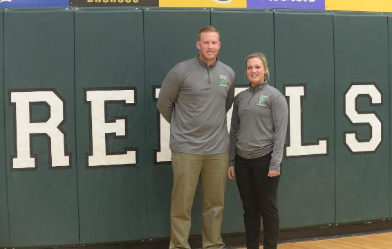 Head coach Brock Morrison helped Winchester reach state finals. Jill was an Indiana All-Star and together, they now lead the Randolph Southern girls basketball program.