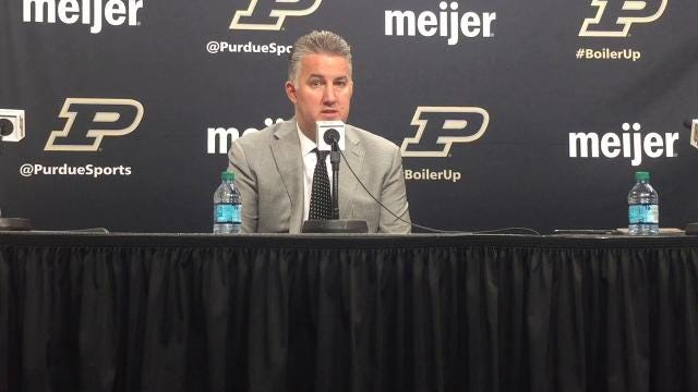 The Boilermakers coach on his team's first back-to-back 100-point games since 1974.