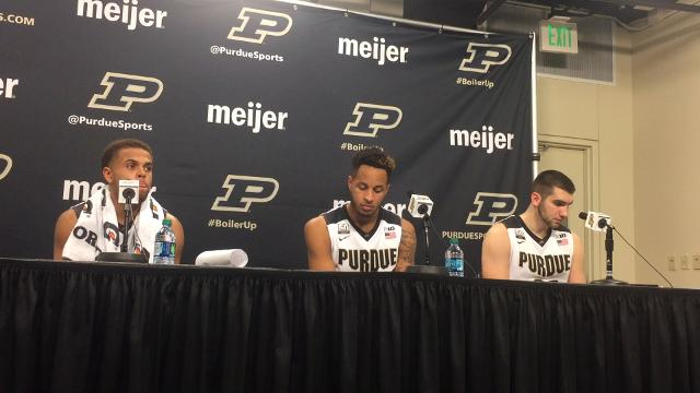 P.J. Thompson, Vincent Edwards and Dakota Mathias discuss their record-setting 3-point effort and more.
