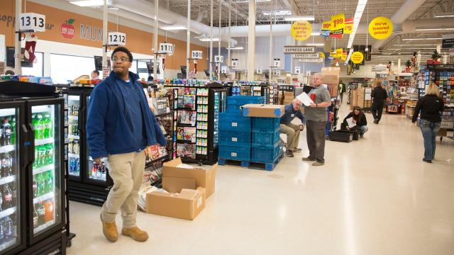 Muncie's first new grocery store since The Great Supermarket Drought of '17 opens Thursday.Kroger's first Muncie Pay Less store will open at 8 a.m. Thursday in the former Marsh Supermarket at Wheeling Avenue and McGalliard Road.