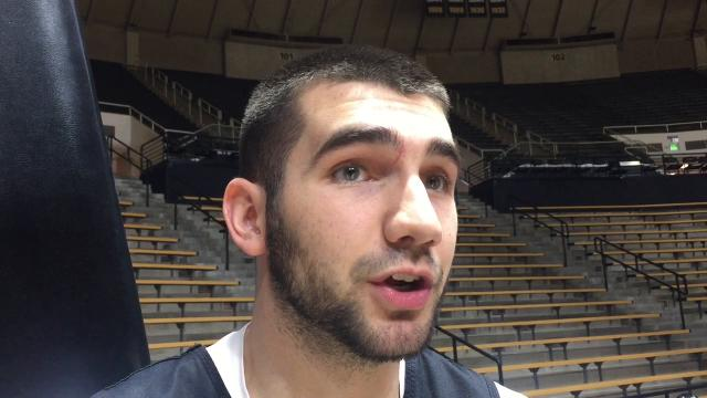 """Purdue's Dakota Mathias: """"We're excited to get down to Indy"""""""