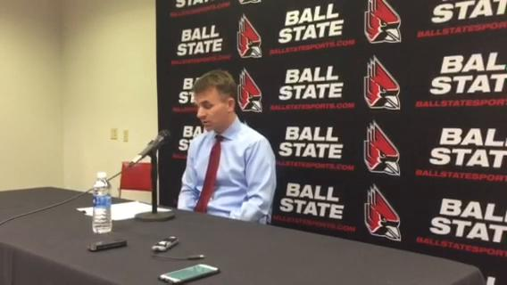 Ball State head coach James Whitford discusses his team's performance after earning their seventh straight win.