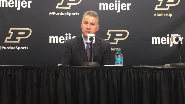 The Boilermakers coach on his team's rebounding and defensive performances in their 10th straight victory.