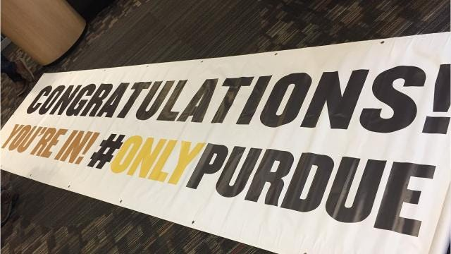 Quillin thought his parents were taking him to a Purdue basketball game . Instead, Quillin got something unexpected instead — an acceptance to Purdue.