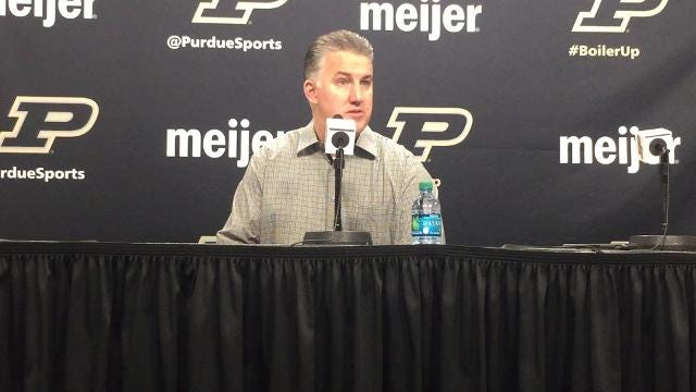 The Boilermakers coach on his team's 11th consecutive victory.