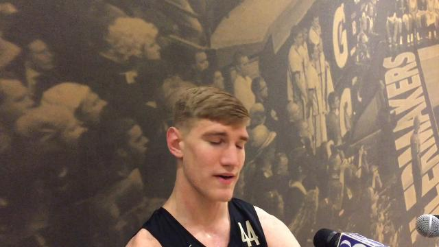 Big man Isaac Haas on dealing with Wisconsin's Ethan Happ and the program's climb up the rankings