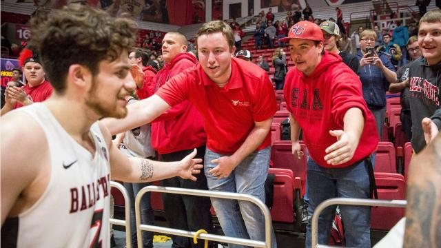 """Go to any Ball State University home basketball game this year and you'll see a group of young, energetic students cheering from """"The Nest,"""" as it's called by the students."""