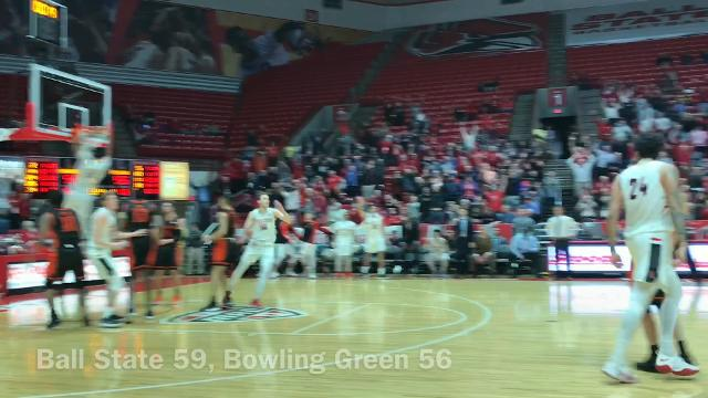 Ball State guard Tayler Persons makes another game-winning 3-pointer.