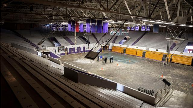 A storm in early November did extensive damage to the Muncie Fieldhouse. On Monday, The Star Press was granted access to survey what it looks like inside.