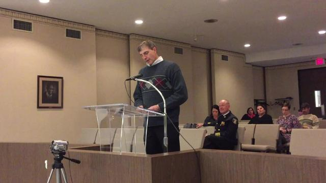 Brooks Bertl of TRC Environmental Corporation gave his monthly update on the former hospital project to Richmond Common Council on Monday, March 5.