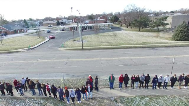 Lafayette Jefferson students participate in the National Walkout Day.