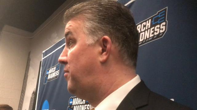 The Boilermakers coach on Dakota Mathias' shot, the frontcourt's performance without Isaac Haas and returning to the Sweet 16.