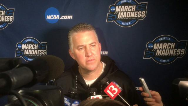 The Boilermaker coach on the Red Raiders' defensive prowess, Isaac Haas health and more from Boston.