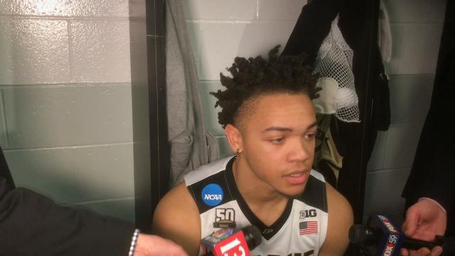 The Boilermaker sophomore scored 25 of his 30 points in the second half of a 78-65 NCAA Tournament East Region semifinal loss to Texas Tech.
