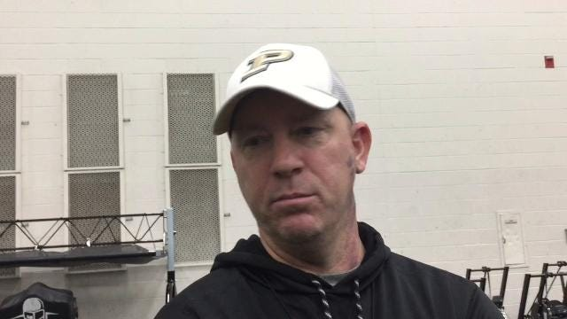 The Boilermakers held a controlled, situational scrimmage Saturday. The head coach offers his thoughts