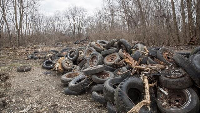 State officials estimated last month that 30,000 to 40,000 waste tires remained behind the new Fresh Thyme Farmers Market in Muncie.