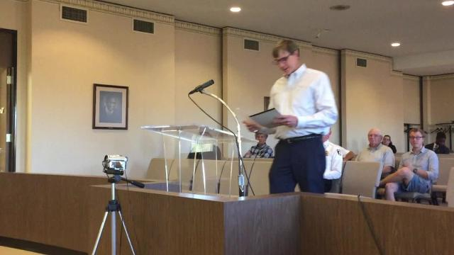 Brooks Bertl of TRC Environmental Corporation came to the May 7 meeting of Richmond Common Council for his monthly update on how the old Reid Hospital demolition project is coming along.
