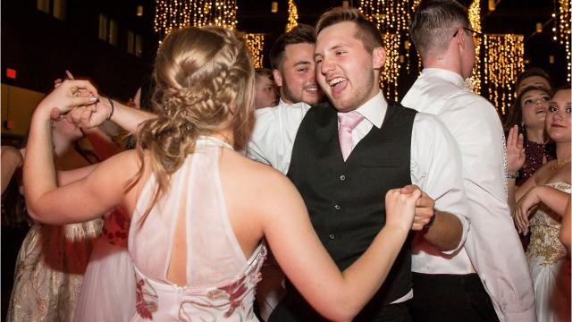 Video from inside Delta High School's prom as students danced the night away.