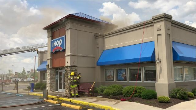 A cigarette butt discarded in mulch next to the entryway of Muncie's IHOP started a fired on Monday, Memorial Day afternoon. The fire was relatively quickly extinguished but did do damage to the entry facade and, potentially, lobby area. No injuries were reported.