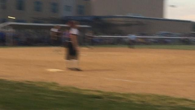 An inspired Knightstown High School softball team edged Centerville, scoring the winning run in an unconventional manner in the seventh inning.