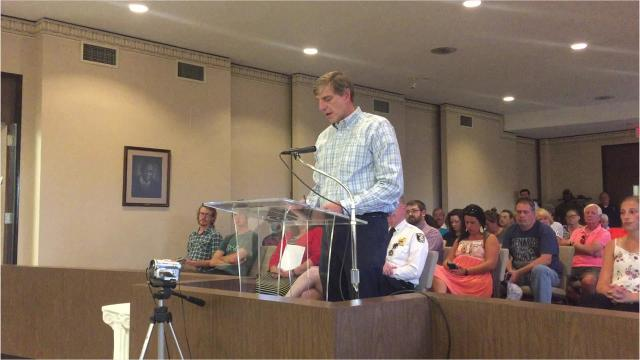 Brooks Bertl of TRC Environmental Corporation came to Tuesday's Richmond Common Council meeting to give his monthly update on the demolition of the former Reid Hospital buildings.