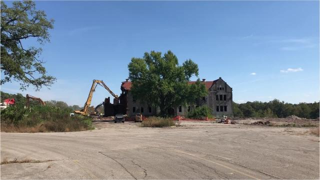 Demolition began Monday, Oct. 1, 2018 on the oldest section of the former Reid Hospital campus along Chester Boulevard in Richmond.