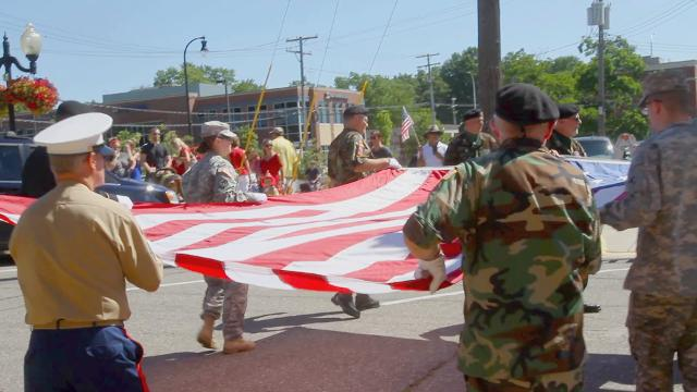 A parade, rubber duck race and a shower from the fire department make Brighton the place to be on the Fourth of July.