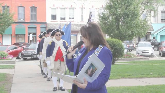 The Philip Livingston Chapter of the Daughters of the American Revolution held a wreath-laying ceremony Friday, July 14, 2017, at the Historic Howell Courthouse to honor Livingston County's World War I fallen servicemen.