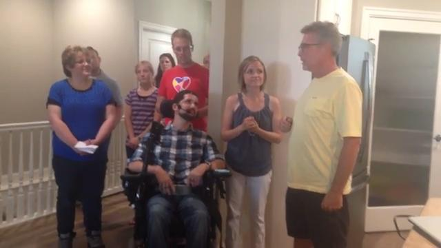 Young couple gets new home after life-altering car accident