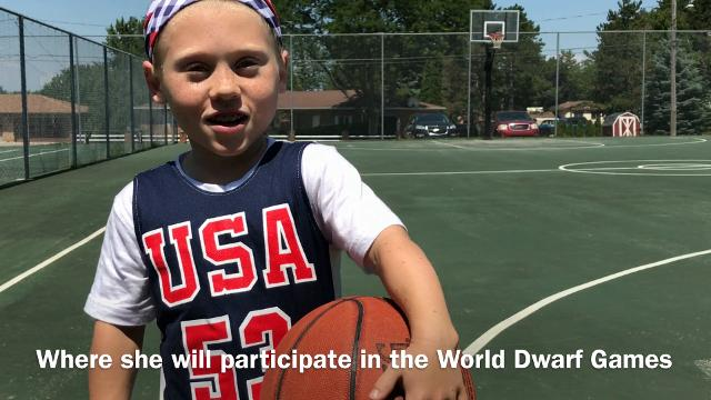 12-year-old Jayci Simon of St. Johns will represent Team USA in the 2017 World Dwarf Games in Ontario, Canada. Cody Tucker/Lansing State Journal