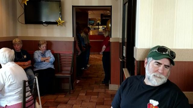 Mary Brooks was honored with a surprise party at the Livonia McDonald's where she works.