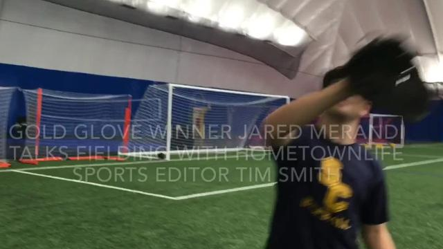 This Schoolcraft college athlete and Plymouth High School alum  received a National Junior College Athletic Association Division III Rawlings Gold Glove.