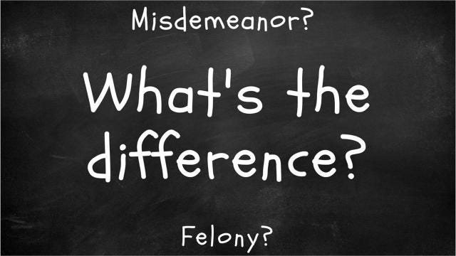 You read stories about felonies and misdemeanors all the time, but how are they different from each other?
