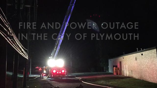 Explosion and fire douse the power in the city of Plymouth