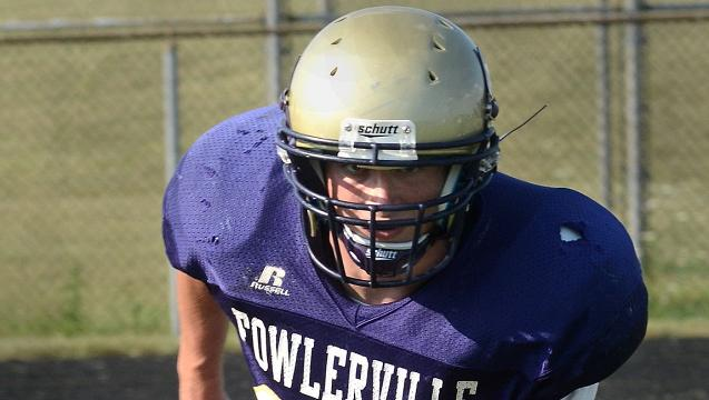 No. 4 football player Trevor Brock of Fowlerville