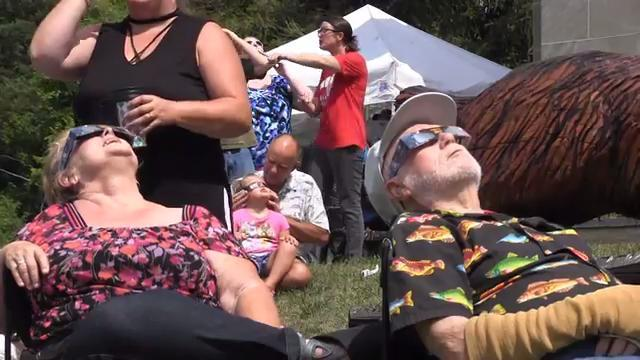 Eclipse watchers party at museum