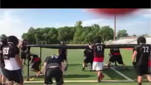 Livonia Churchill football team gets in some practice reps