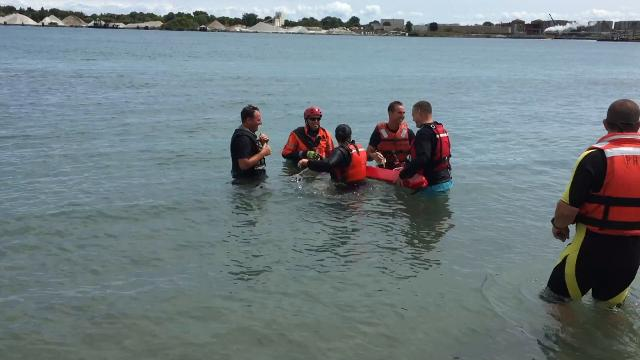Port Huron firefighters learn to safely rescue drowning victims from the St. Clair River.